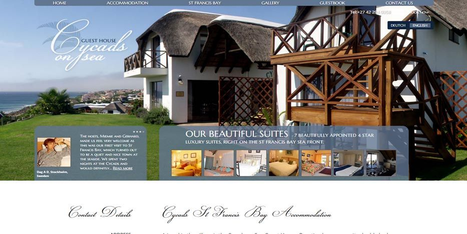 Web Sites For B Bs Self Catering Cottages Hotels Villas