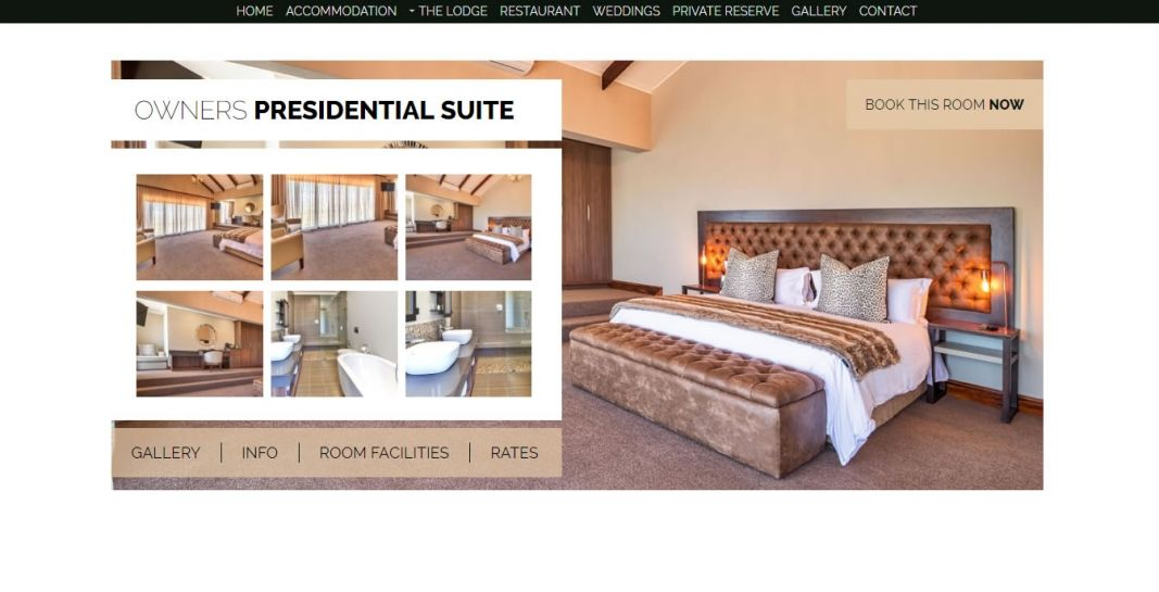 Intle Boutique Hotel & Private Reserve  Website