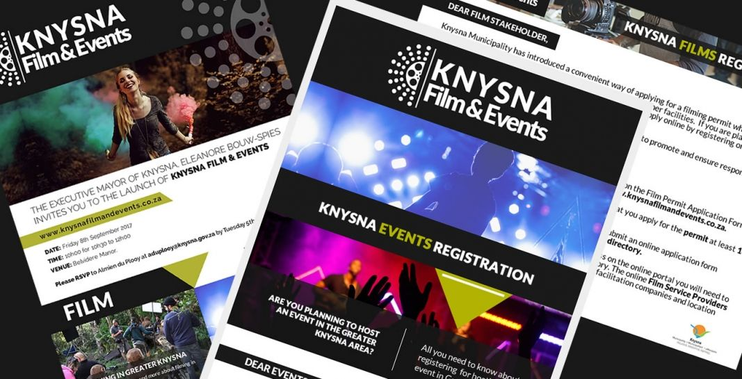 Knysna Film & Events Marketing Material