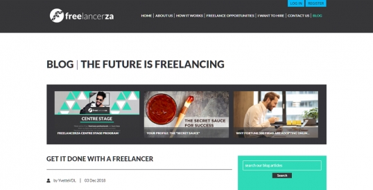 Freelancerza Blog Design & Development