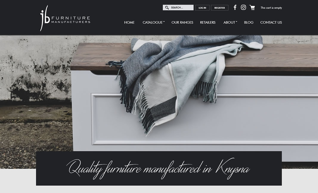 JB Furniture E-commerce Website Design & Development