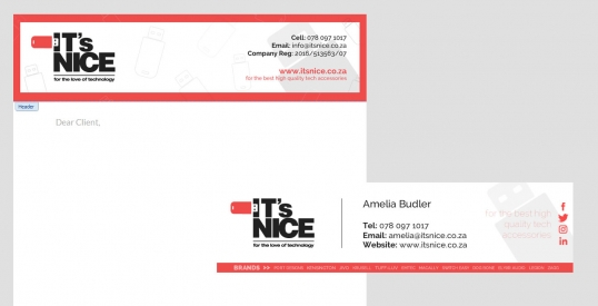 ITS NICE email signature & letterhead design
