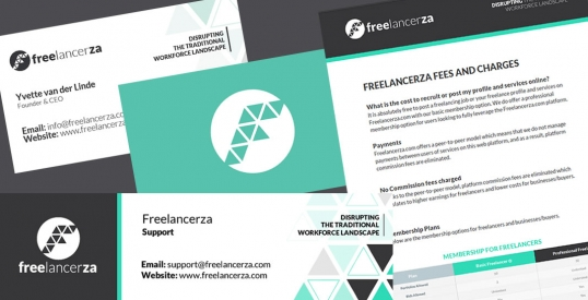 Freelancerza Stationery, email signature, document design & styling