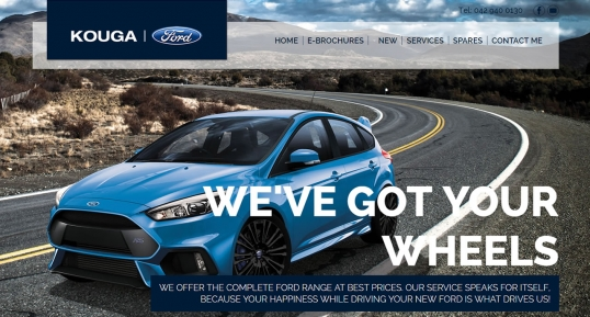 Kouga Ford e-commerce Custom Website Design & Development for official Ford Dealer