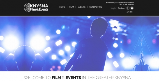 Knysna Film & Events Website Design & Development
