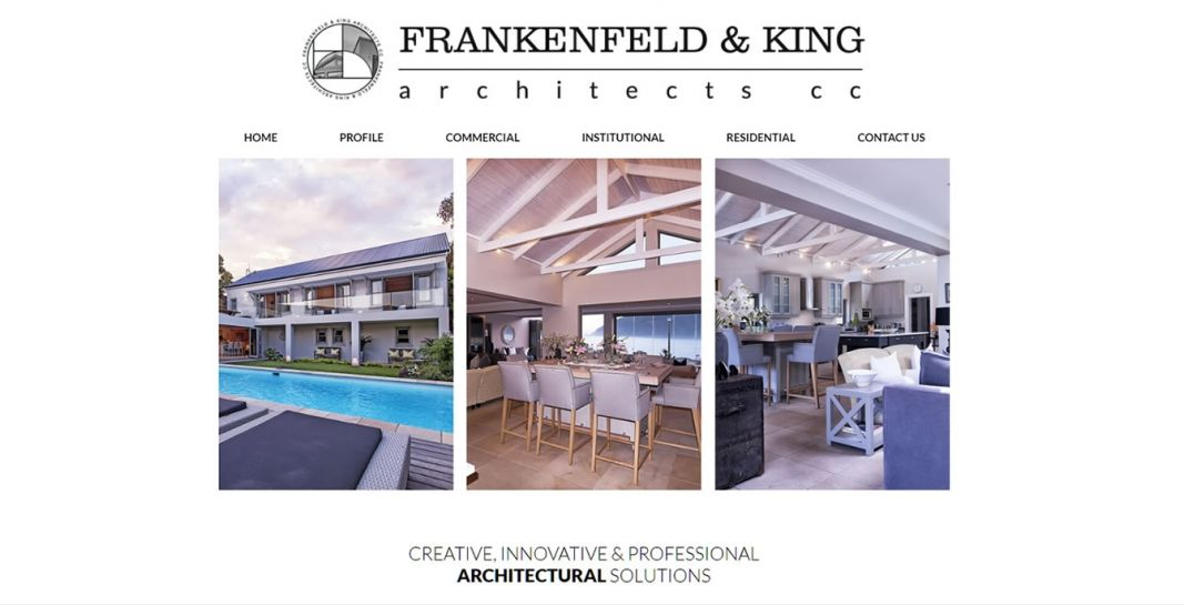 Frankenfeld & King Architects Website Design & Development